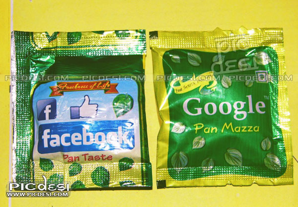 Facebook and Google Pan Masala India Funny Picture
