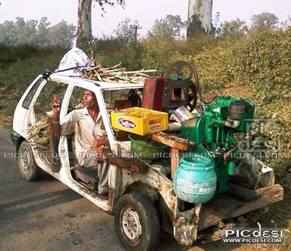 Funny Maruti Car Jugaad India Funny Picture