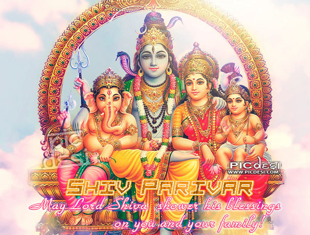 Shiv Parivar May Lord Shiva Bless Maha Shivaratri Hinduism Picture