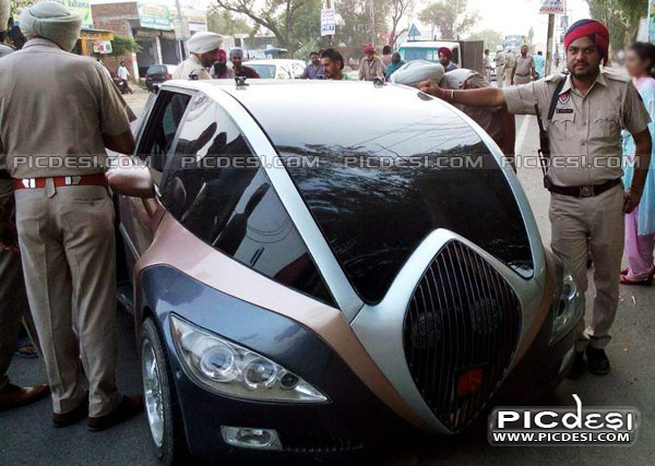 Punjab Police With Modified Car India Funny Picture