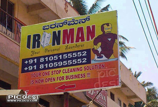 Iron Man of India Funny Board India Funny Picture
