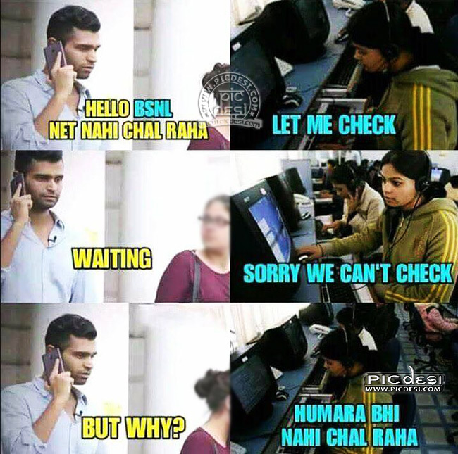 BSNL Customer Care Troll Hindi Funny Picture