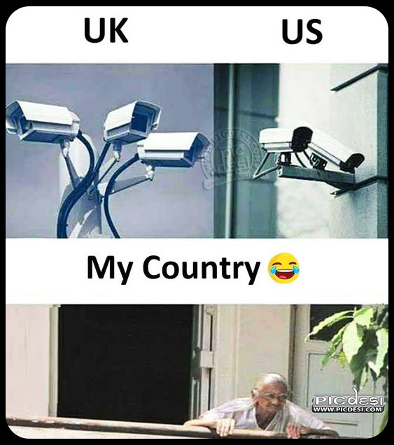 CCTV Camera in My Country Funny Picture
