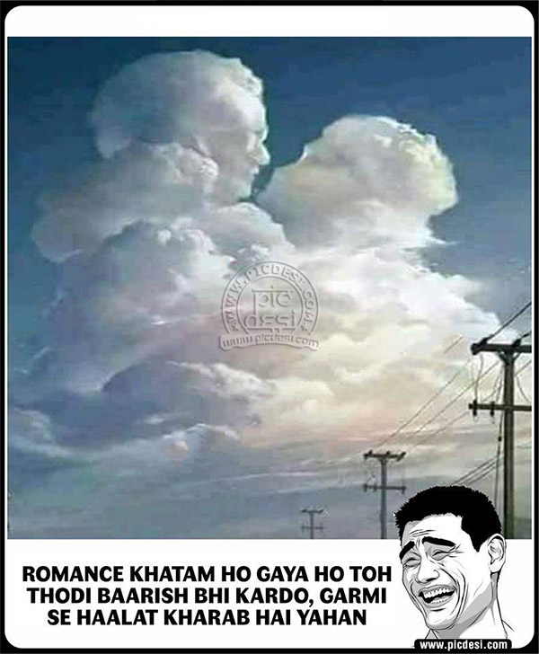 Clouds Romance Funny Picture Hindi Funny Picture
