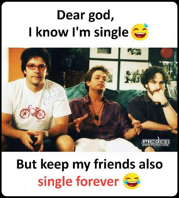 Keep My Friends Single Funny Picture