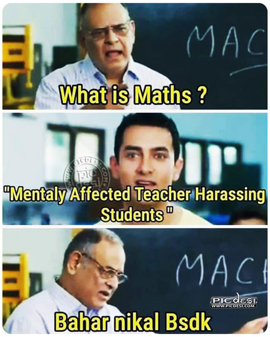 What is Maths Hindi Funny Picture