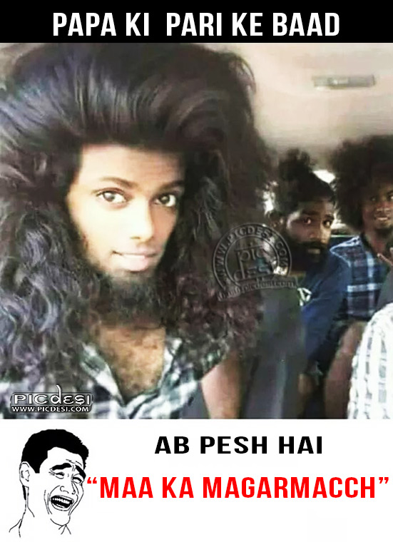 Boy Version Papa Ki Pari Troll Hindi Funny Picture