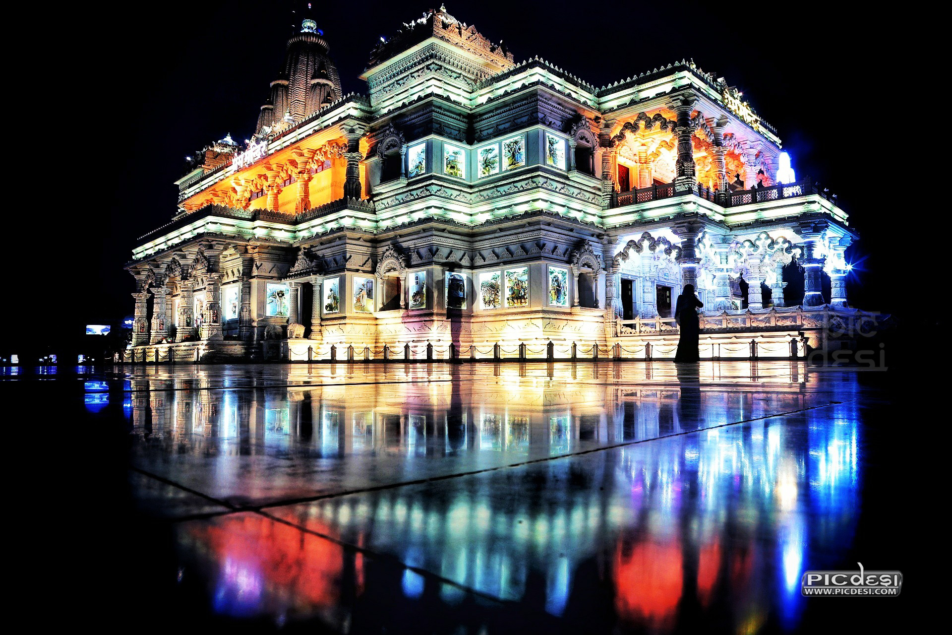 Prem Mandir Vrindavan India Picture