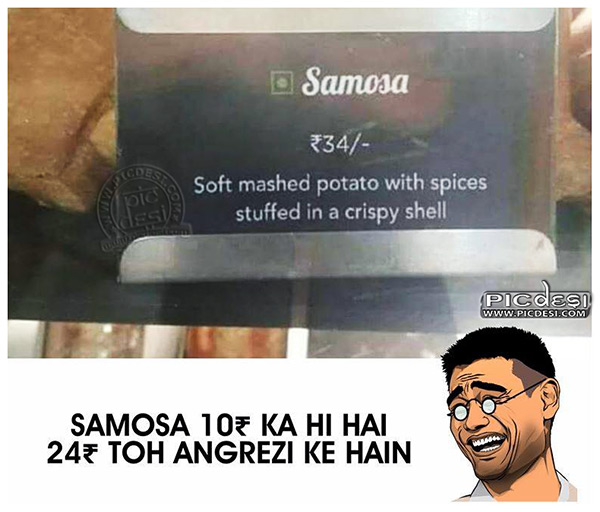 Samosa in English Funny Pic Hindi Funny Picture