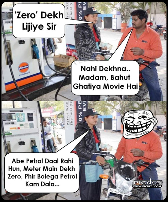 Zero Dekh Lijiye Hindi Funny Picture
