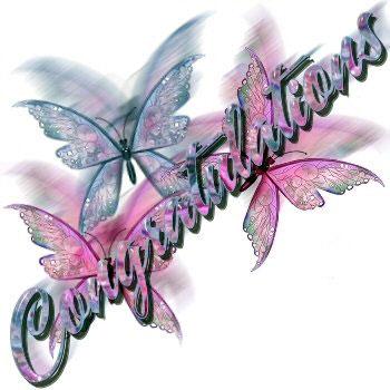 Congratulations Butterfly Congratulations
