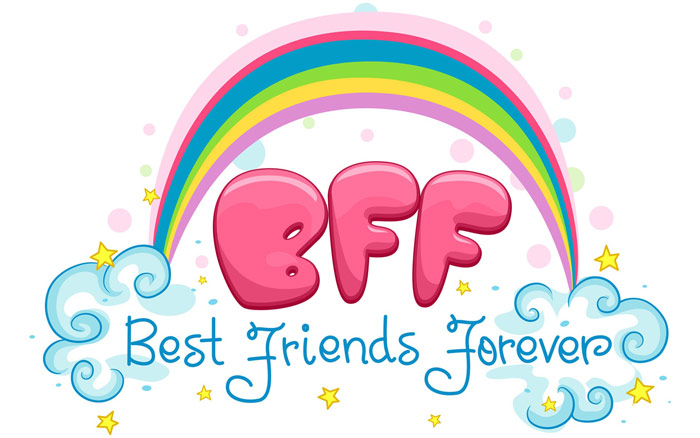 Best Friends Forever Rainbow Picture Friends