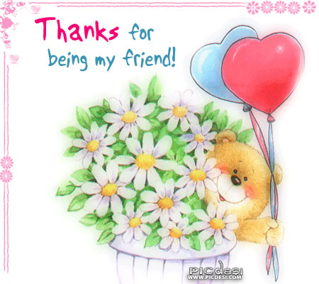 Thanks for being my friend Friends Picture