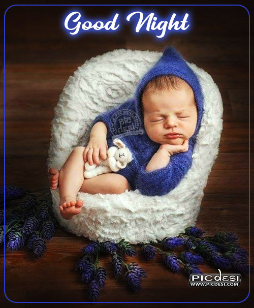 Good Night Sleeping Child Good Night Picture