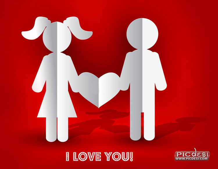 Couple with Heart Image Love Picture