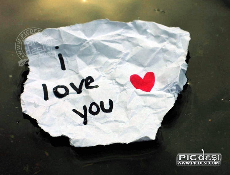 I Love You on Paper Pic Love