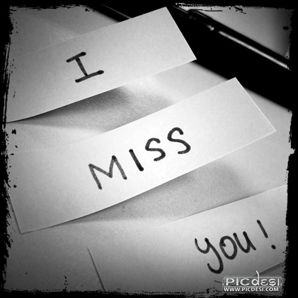 I Miss You Paper Notes Miss You Picture