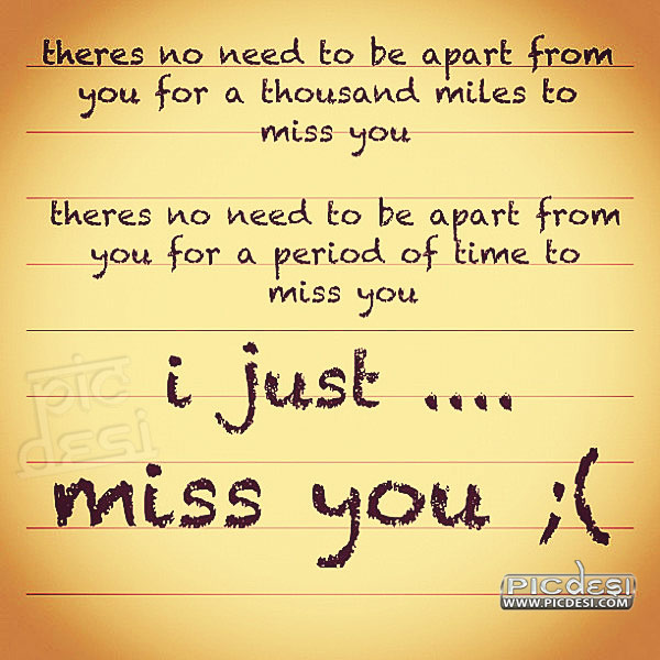 I Just Miss You Quote Miss You