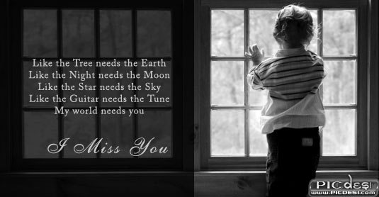 My World Needs You Miss You Picture
