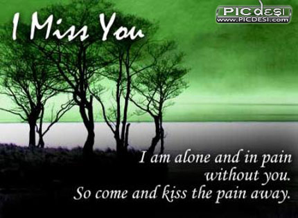 I am alone in pain Miss You Picture