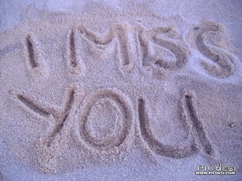 I Miss You Writen on Sand Miss You