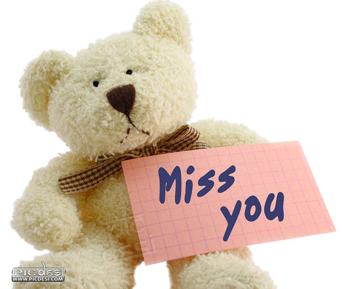 Miss You Cute Teddy Picture Miss You Picture