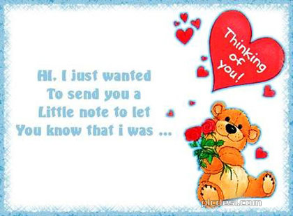 Little Note Thinking of You Thinking of You Picture