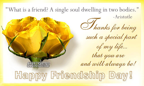 Happy Friendship Day Thanks for being special Friendship Day Picture