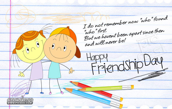 Happy Friendship Day We will never be apart Friendship Day Picture