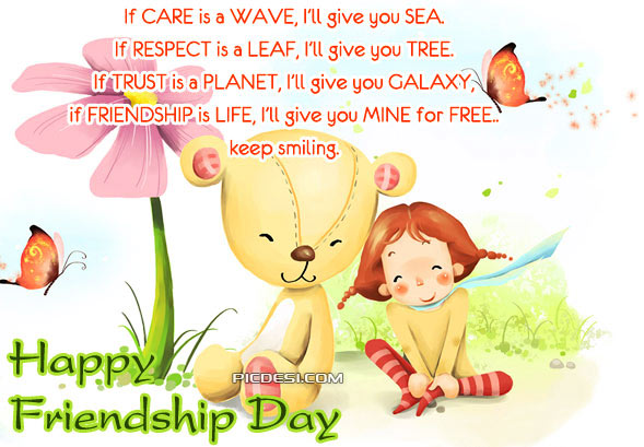 Happy Friendship Day   Keep Smiling Friendship Day