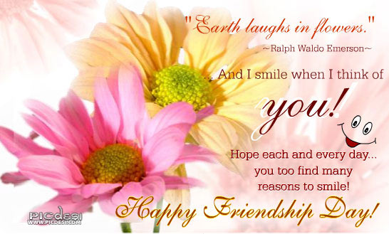 I Smile when Think of You Friendship Day