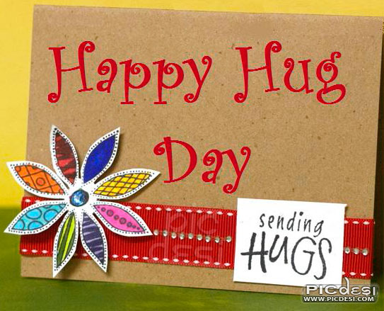 Happy Hug Day Sending Hugs Card Hug Day