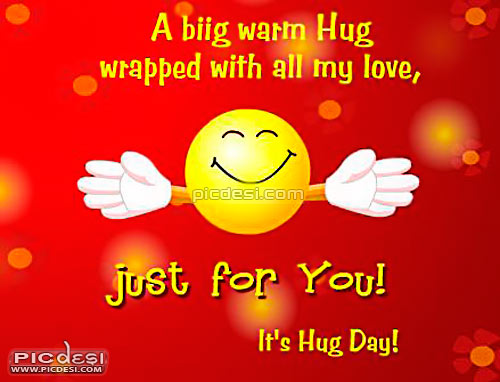 Big Warm Hug With Love Hug Day Picture