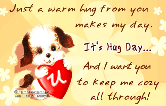Its Hug Day Warm Hug from you Hug Day Picture