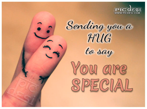 Hug to say you are special Hugs Hug Day Picture