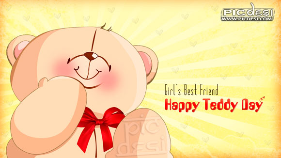 Happy Teddy Day Girls Best Friend Teddy Bear Day Picture