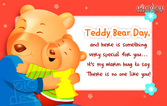Teddy Bear Day Warm Hug for You Teddy Bear Day Picture