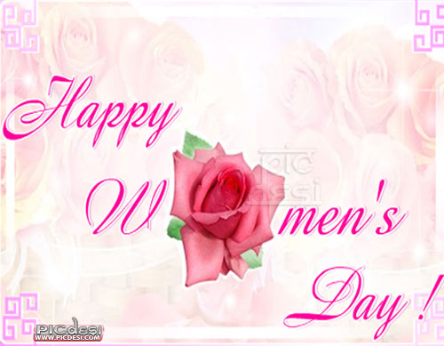 Happy Womens Day   Red Rose Womens Day