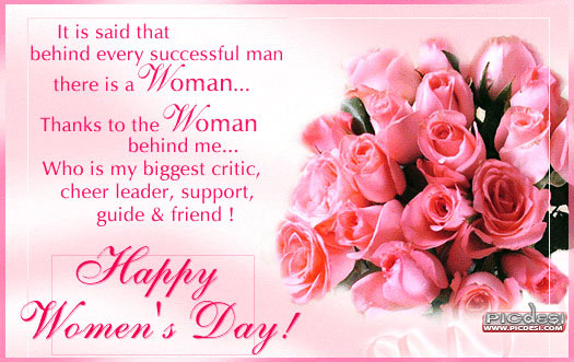 Happy Womens Day   Thanks to the Woman Womens Day