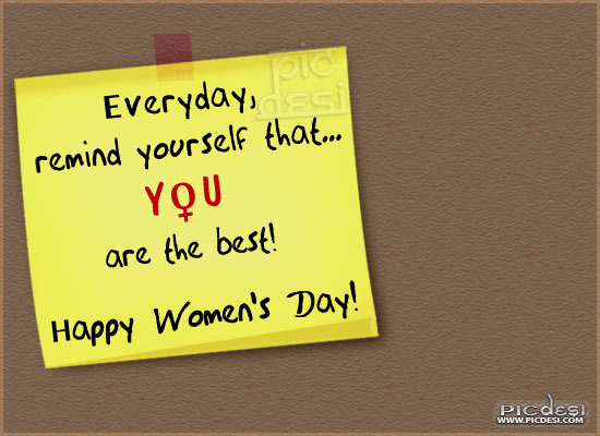 Happy Womens Day   You are the Best Womens Day