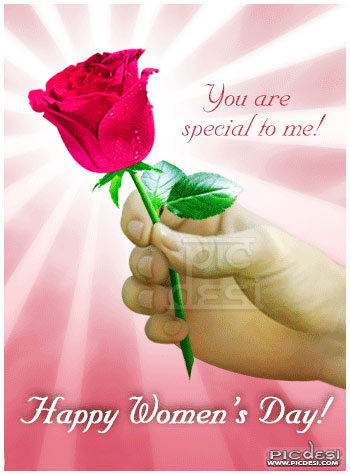Happy Womens Day You are Special to Me Womens Day Picture
