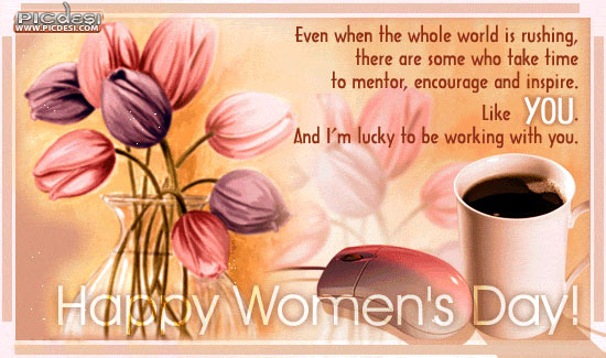 Happy Womens Day M Lucky with You Womens Day Picture