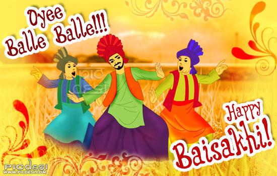 Happy Baisakhi Oye Balle Balle Baisakhi Picture