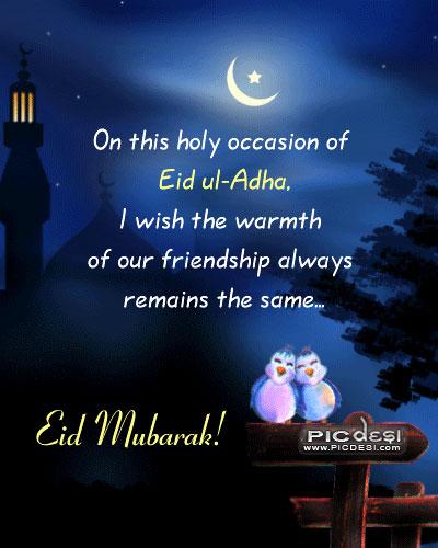 Eid Mubarak Warmth of Friendship Eid Picture