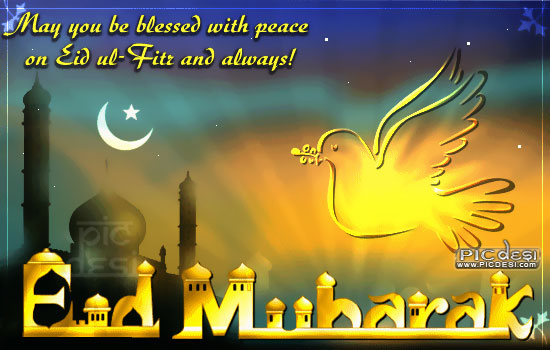 May you be blessed with Peace Eid Picture