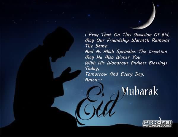 Eid Mubarak Prayer Eid Picture
