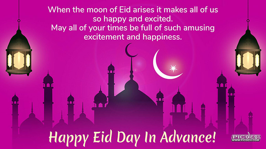 Happy Eid Day in Advance Eid Picture