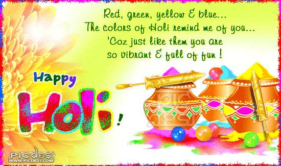 Happy Holi So Vibrant Full of Fun Holi Picture