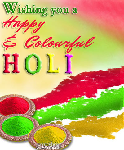 Wishing you Happy & Colorful Holi Holi