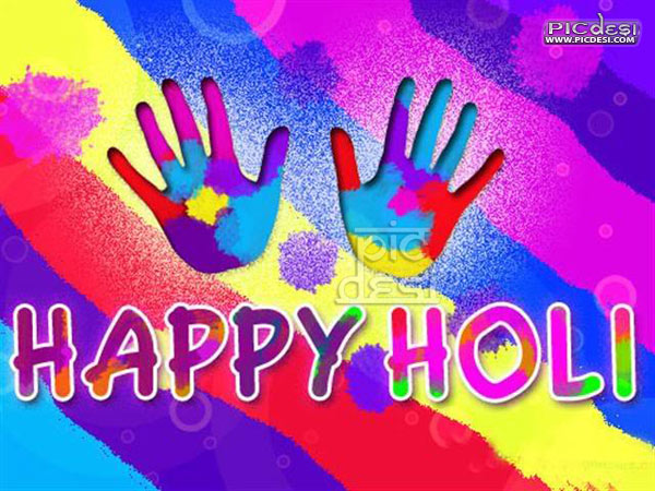 Happy Holi HandFul of Colors Holi Picture